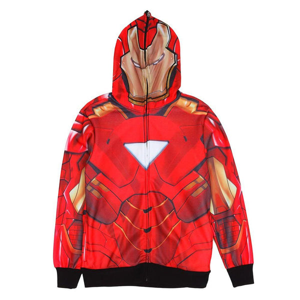 Iron Man - Classic Mask All Over Costume Zip Hoodie