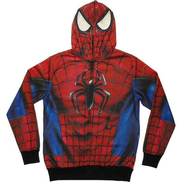 Spider-Man - Real Classic All Over Costume Zip Hoodie