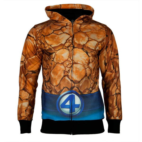 Fantastic Four - The Thing All Over Costume Zip Hoodie