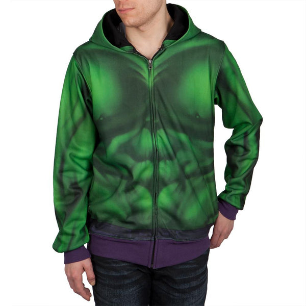 Incredible Hulk - Buff Hulk Sublimated Costume Zip Hoodie
