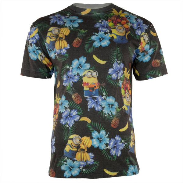 Despicable Me - Minion Tropical All Over Adult T-Shirt
