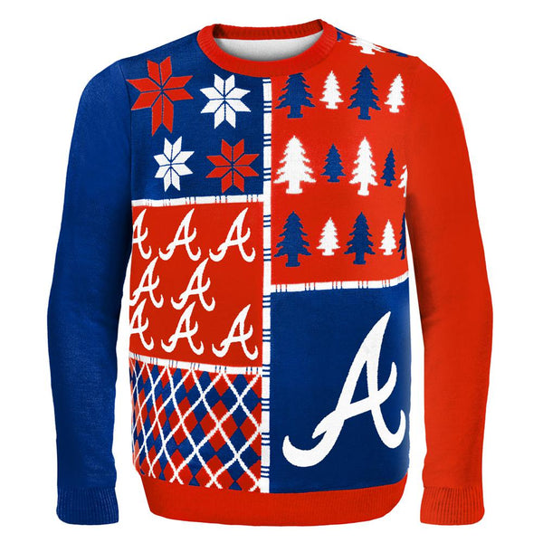 Atlanta Braves - Busy Block Ugly Christmas Sweater
