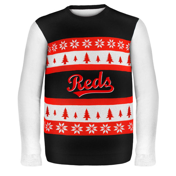 Cincinnati Reds - One Too Many Ugly Christmas Sweater