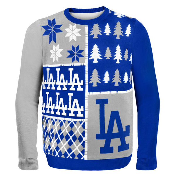 Los Angeles Dodgers - Busy Block Ugly Christmas Sweater