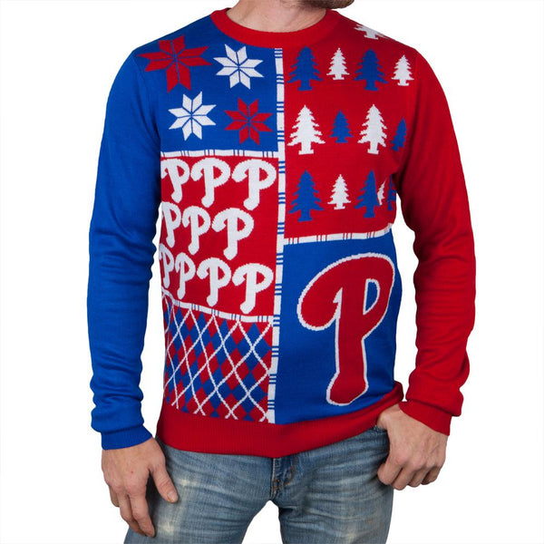 Philadelphia Phillies - Busy Block Ugly Christmas Sweater