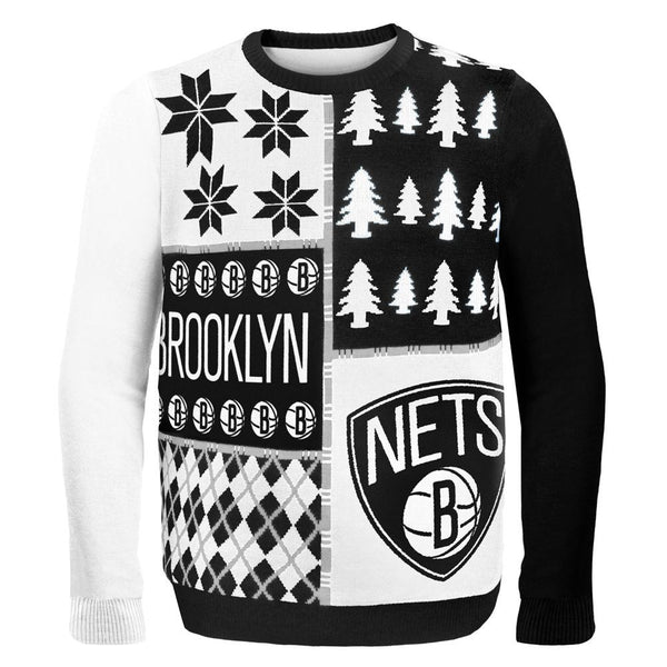 Brookyln Nets - Busy Block Ugly Christmas Sweater