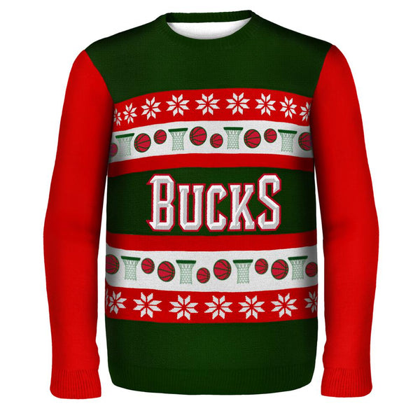 Milwaukee Bucks - One Too Many Ugly Christmas Sweater