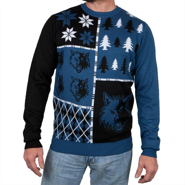 Minnesota Timberwolves - Busy Block Ugly Christmas Sweater