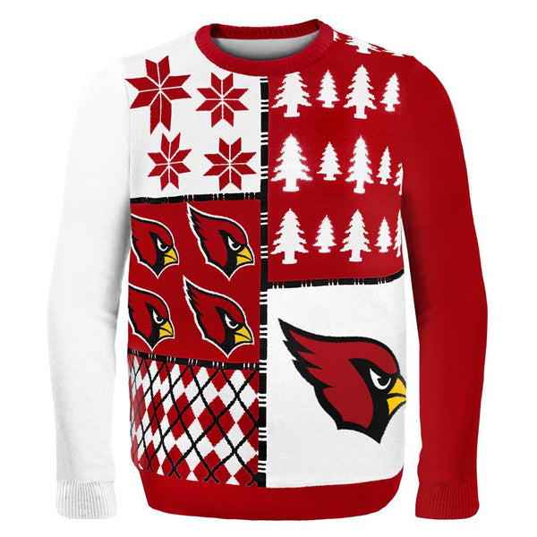 Arizona Cardinals - Busy Block Ugly Christmas Sweater