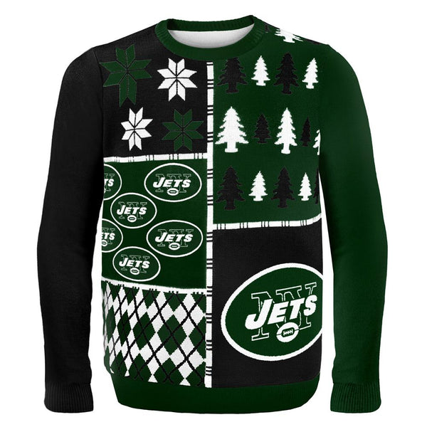 New York Jets - Busy Block Ugly Christmas Sweater