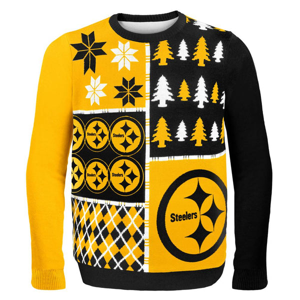 Pittsburgh Steelers - Busy Block Ugly Christmas Sweater