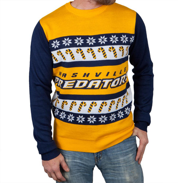 Nashville Predators - One Too Many Ugly Christmas Sweater