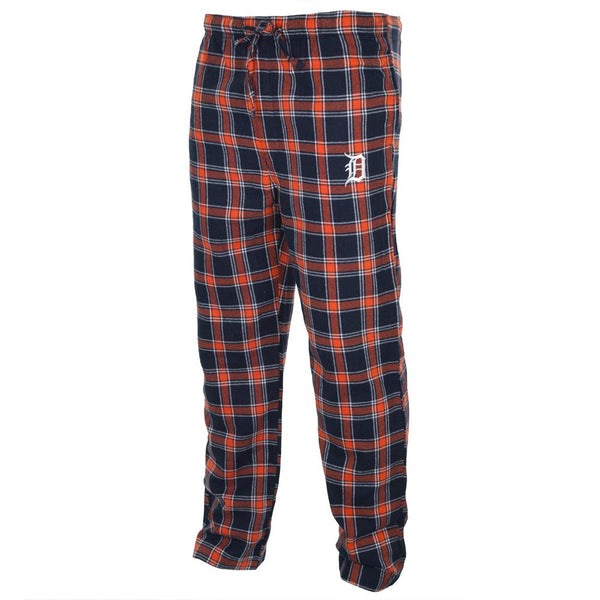 Detroit Tigers - Logo Plaid Lounge Pants