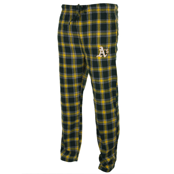 Oakland Athletics - Logo Plaid Lounge Pants