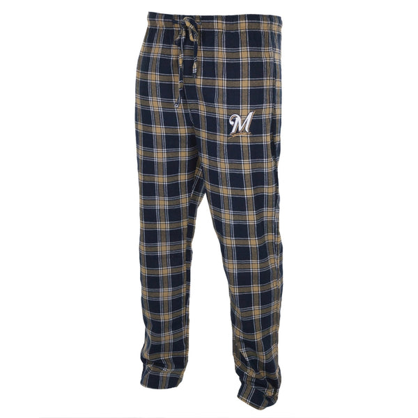Milwaukee Brewers - Logo Plaid Lounge Pants
