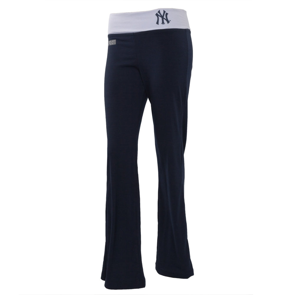 New York Yankees - Flip Down Waistband Logo Juniors Yoga Pants