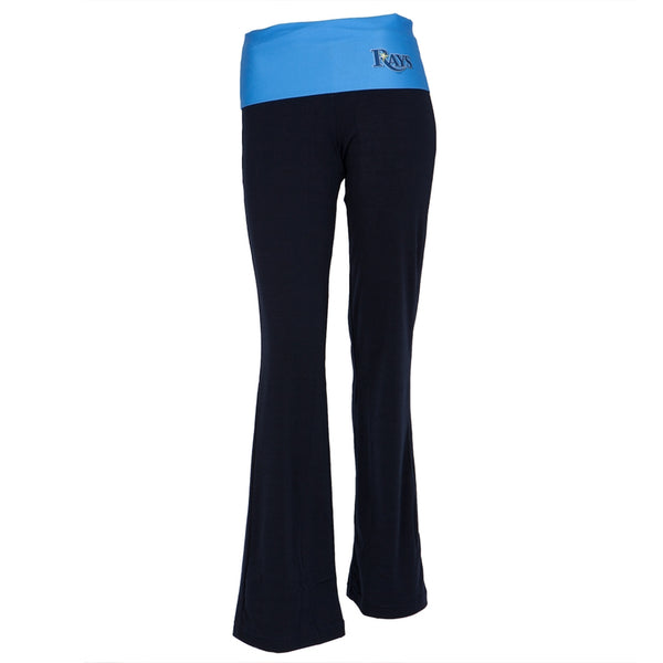 Tampa Bay Devil Rays - Flip Down Waistband Logo Juniors Yoga Pants