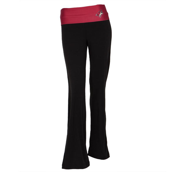 Phoenix Coyotes - Flip Down Waistband Logo Juniors Yoga Pants