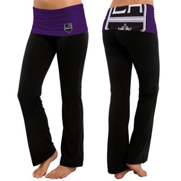 Los Angeles Kings - Flip Down Waistband Logo Juniors Yoga Pants