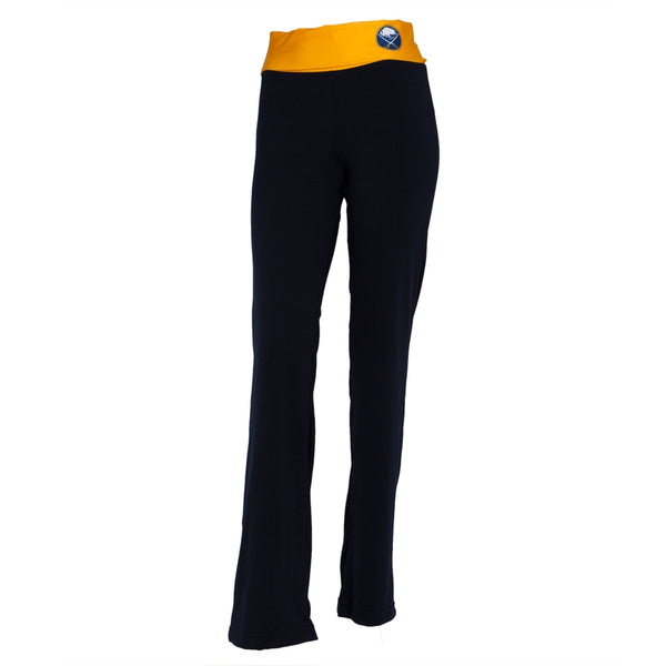 Buffalo Sabres - Flip Down Waistband Logo Juniors Yoga Pants