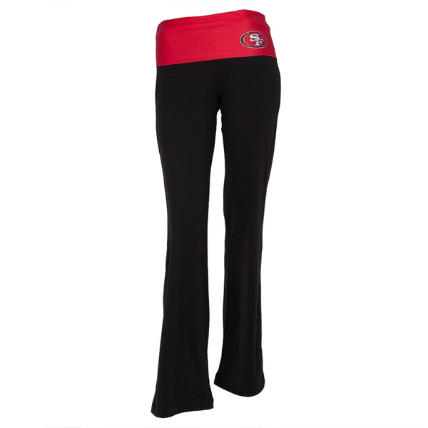 San Francisco 49ers - Flip Down Waistband Logo Juniors Yoga Pants