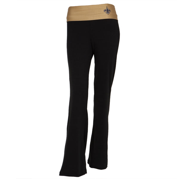New Orleans Saints - Flip Down Waistband Logo Juniors Yoga Pants