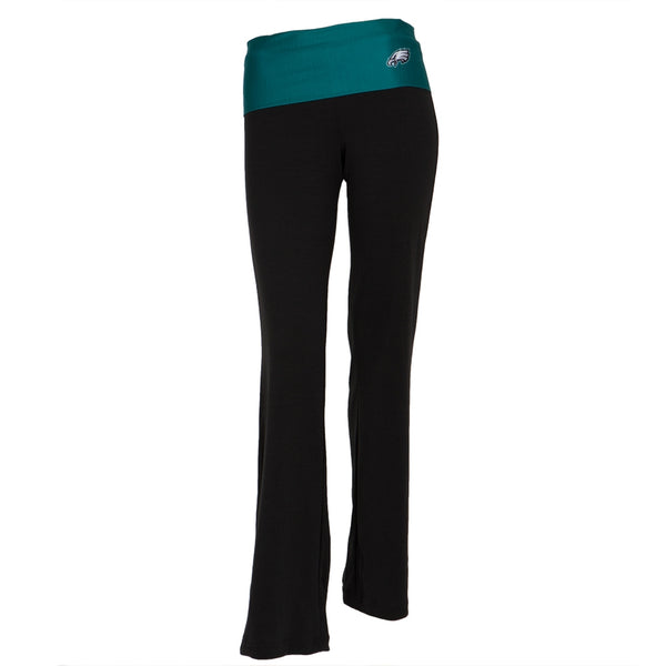 Philadelphia Eagles - Flip Down Waistband Logo Juniors Yoga Pants