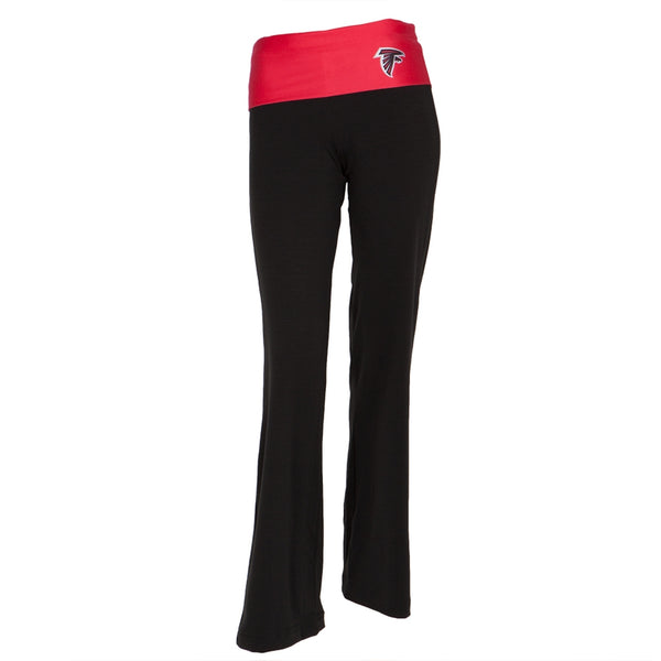 Atlanta Falcons - Flip Down Waistband Logo Juniors Yoga Pants