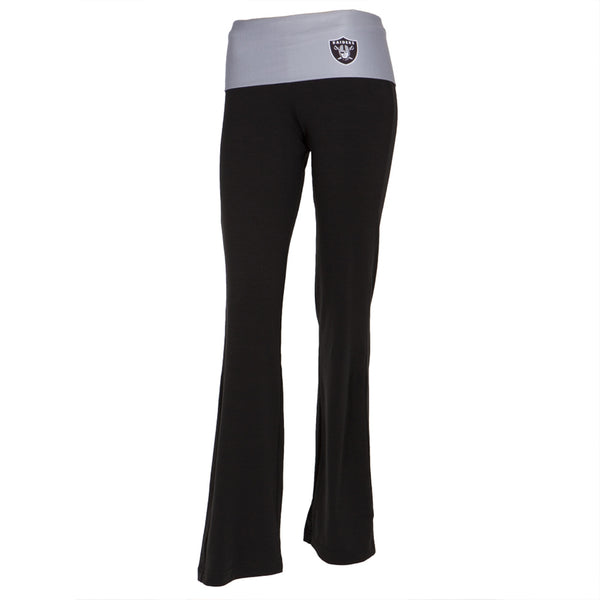 Oakland Raiders - Flip Down Waistband Logo Juniors Yoga Pants