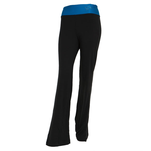 Detroit Lions - Flip Down Waistband Logo Juniors Yoga Pants