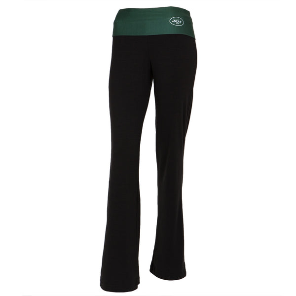 New York Jets - Flip Down Waistband Logo Juniors Yoga Pants