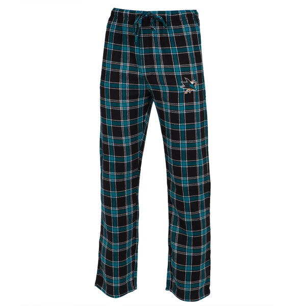 San Jose Sharks - Logo Plaid Lounge Pants