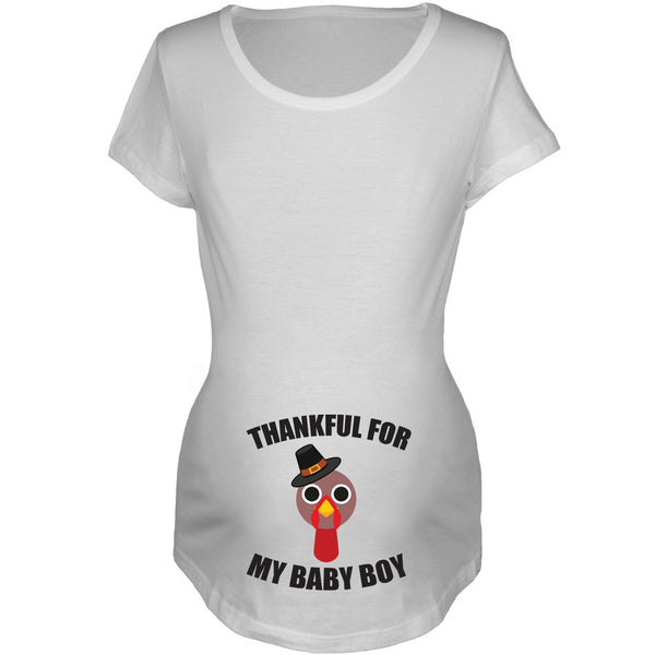 Thankful For Baby Boy Women's Maternity T-Shirt