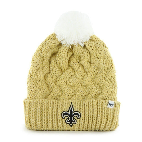 New Orleans Saints - Logo Fiona Women's Gold Pom Pom Beanie