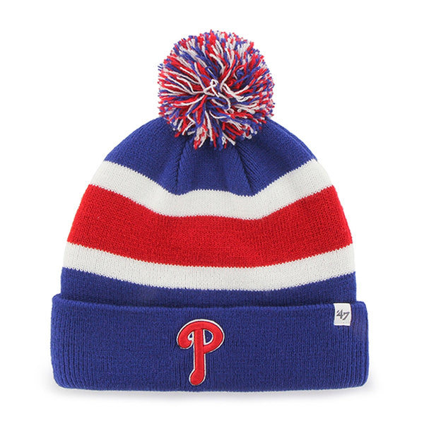Philadelphia Phillies - Logo Breakaway Royal Pom Pom Beanie
