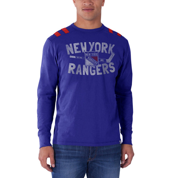 0a30486b1 New York Rangers - Logo Bruiser Premium Long Sleeve. Sale. blue