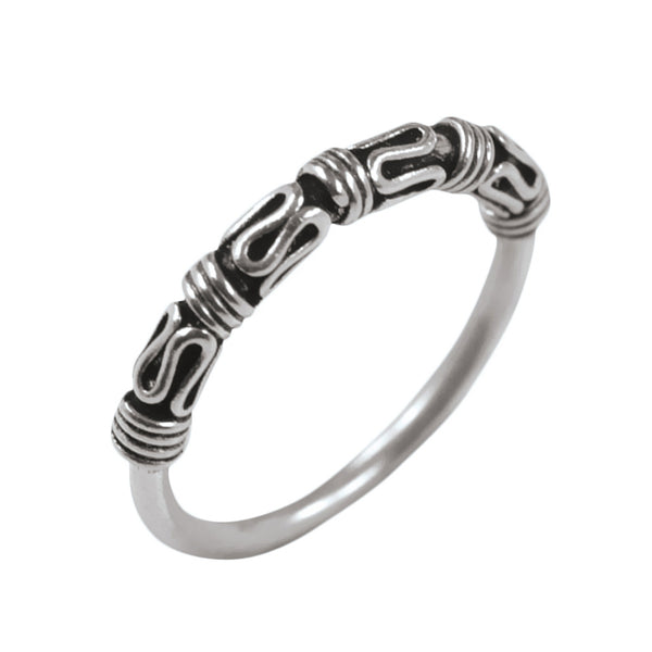 Bali Knot Sterling Silver Ring