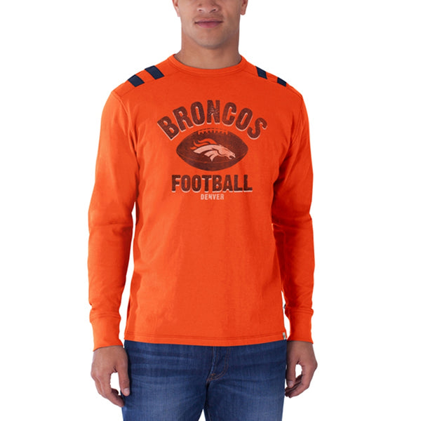 Denver Broncos - Football Logo Bruiser Premium Long Sleeve T-Shirt