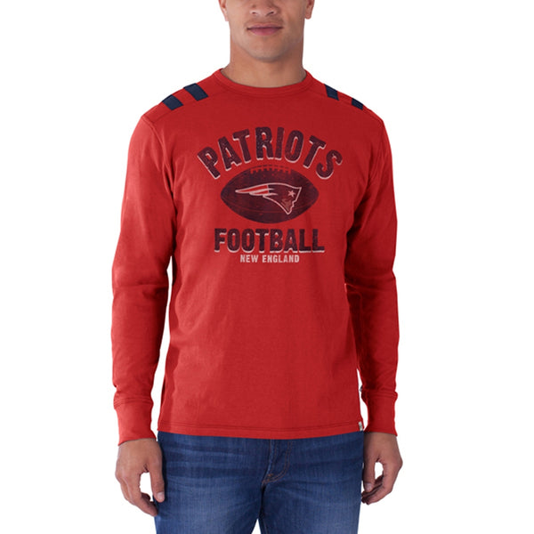 New England Patriots - Football Logo Bruiser Premium Long Sleeve T-Shirt