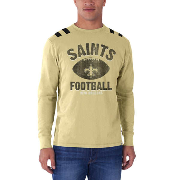 New Orleans Saints - Football Logo Bruiser Premium Long Sleeve T-Shirt