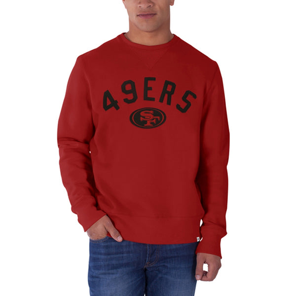 San Francisco 49ers - Logo Cross Check Premium Crew Neck Sweatshirt