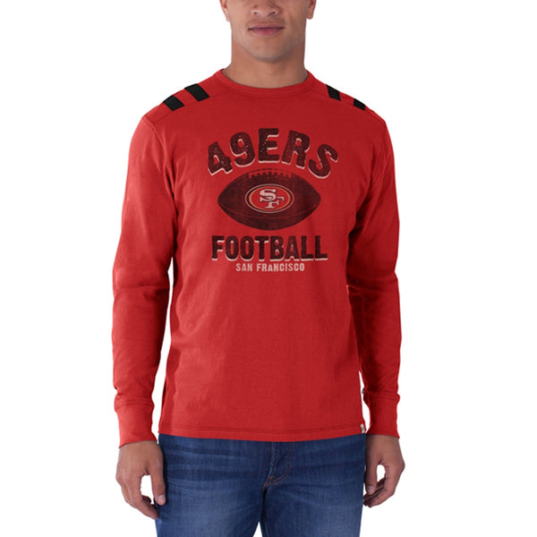 San Francisco 49ers - Football Logo Bruiser Premium Long Sleeve T-Shirt