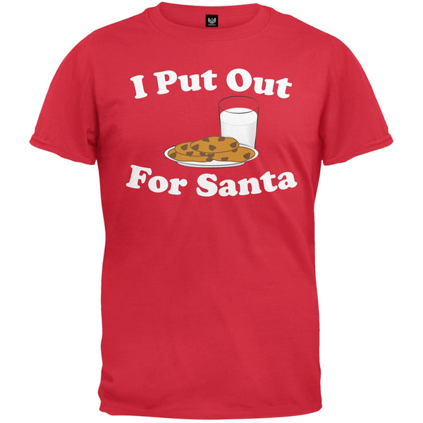 I Put Out For Santa Red T-Shirt