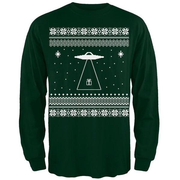 Alien Beam Ugly XMAS Sweater Black Adult Long Sleeve T-Shirt