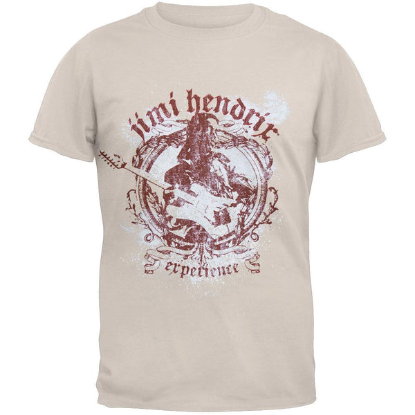 Jimi Hendrix - Experienced White Sprayed Logo T-Shirt