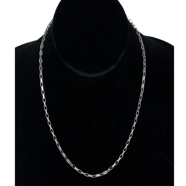 2.5mm Stainless Steel Rectangle Link Necklace