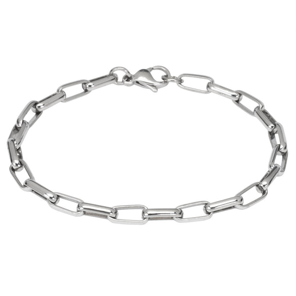 Stainless Steel Large Oval Link Chain Bracelet