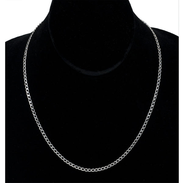 0.8mm Stainless Steel Curb Chain Link Necklace