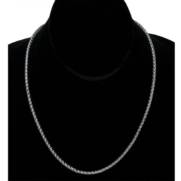 2.75mm Wheat Chain Stainless Steel Necklace