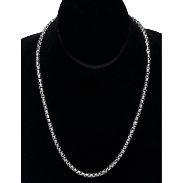 4.3mm Stainless Steel Boxchain Necklace